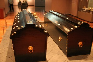 武寧王陵の木棺(復元、国立公州博物館展示)