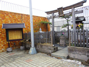 屋上の稲荷神社