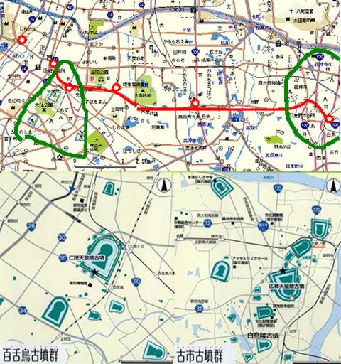 百舌鳥・古市古墳群地図