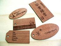 木製のタグ