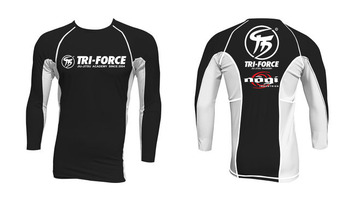 tri-force rashguard mockup