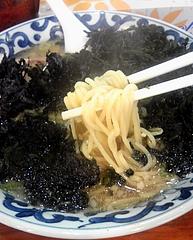 がんこや かるがん つくば店 岩のりラーメン 麺