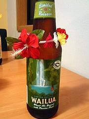 WAILUA WHEAT BREWED WITH TROPICAL PASSION FRUIT KONA BEER ラベル
