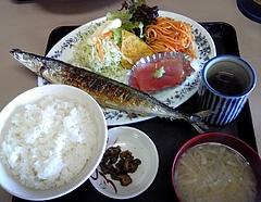 塩竈港 魚河岸 焼き魚定食(700円)