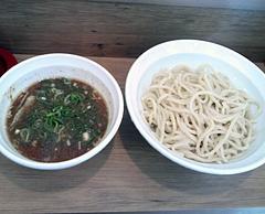 ヒノマル食堂つけ麺なおじ@新橋 つけ麺・大盛(600円)