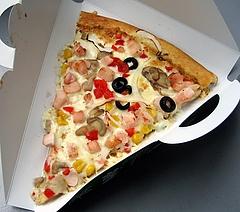 パン・ギャラクティック・ピザ・ポート チキンとベジタブルのピザ(390円)