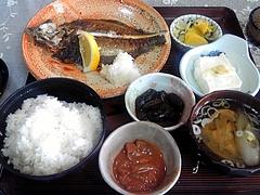 那須食堂 ひらめ塩焼き定食(850円)