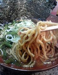 上弦の月@蒲田 ラーメン 麺