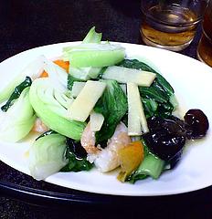 海南飯店 エビ野菜セット(980円)