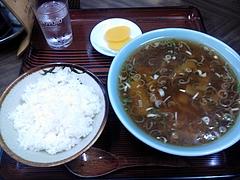 三河家 メンマラーメン定食 600円