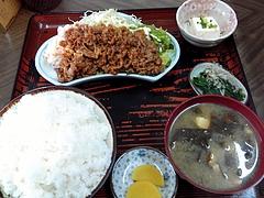三河家 焼肉定食(750円)