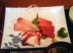 お食事処 大原 刺身3点とアジフライ定食 の刺身