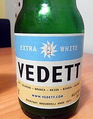 VEDETT EXTRA WHITE(醸造元DUVEL MOOLTGAT) ラベル