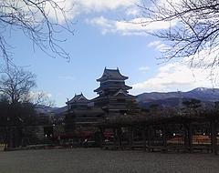 松本城の風景