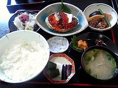 まんぷく食堂 ミニ海宝漬定食(2000円)