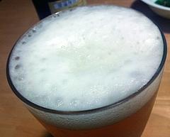 銀河高原ビール 泡