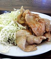 文田食堂 しょうが焼き定食 しょうが焼きアップ
