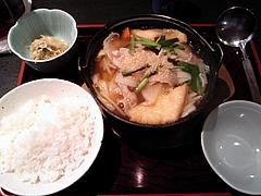 ちゃんこ霧島 日替わりちゃんこ定食(840円)