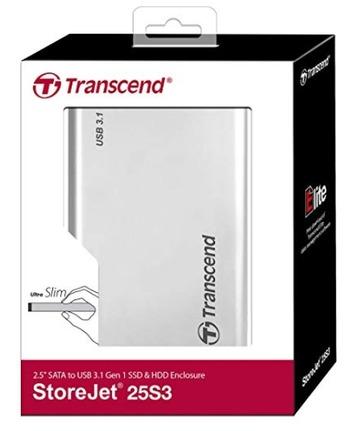 Transcend StoreJet 25S3 USB3.0 アルミニウム製SSDHDDケース