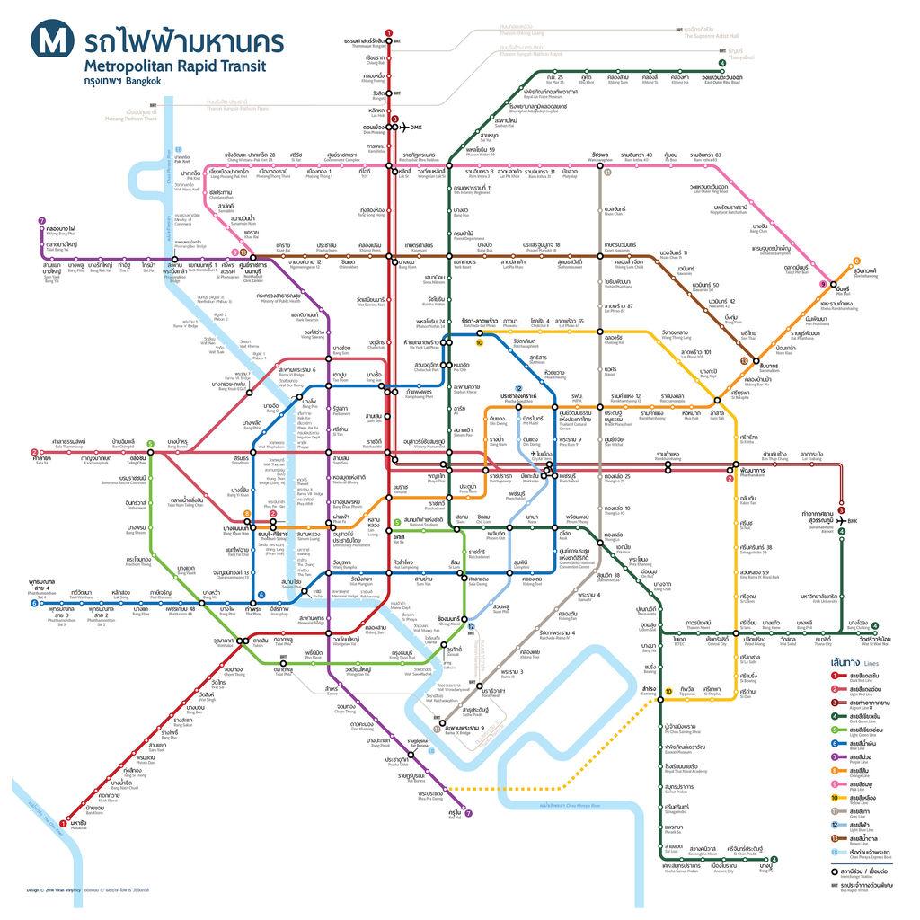 MRTが鉄道路線図公開 : タイ経済...