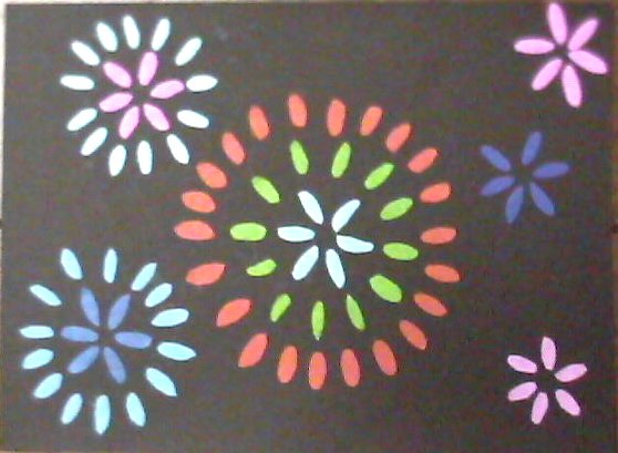 すべての折り紙 折り紙 テレビ : ... と人のぬくもり:折り紙で花火
