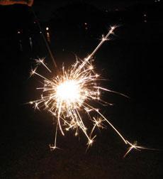 煙の少ない花火 PRO GOLD SPARKLER
