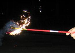 火が踊り回る花火「あばれん棒」
