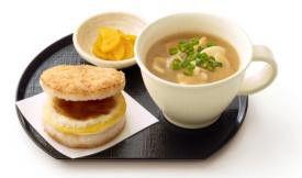 """モスバーガー、朝限定で""""卵かけごはん""""をイメージしたライスバーガー販売"""