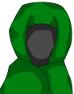 全身ローブの術師-性別不明緑色