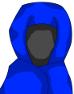 全身ローブの術師-性別不明青色