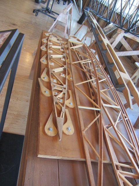 ボーイング木製翼加工