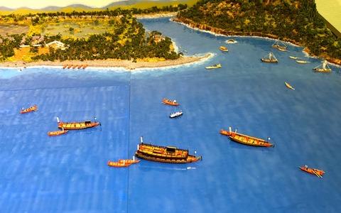 ジオラマ御座船風景