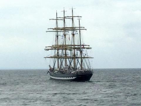 ロシアの大型帆船Kruzenshternx