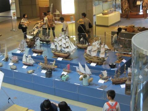 神戸帆船模型の会作品展示