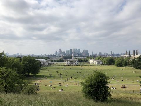 天文台からの風景 ロンドン新市街とNMM