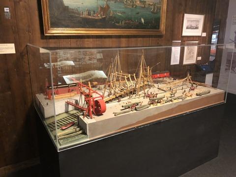 Port_Louis_東インド会社博物館 造船風景ジオラマ