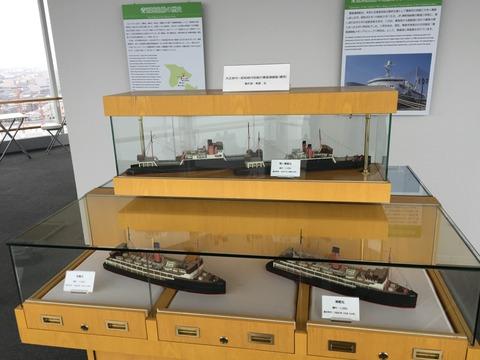 展望台模型展示青函連絡船