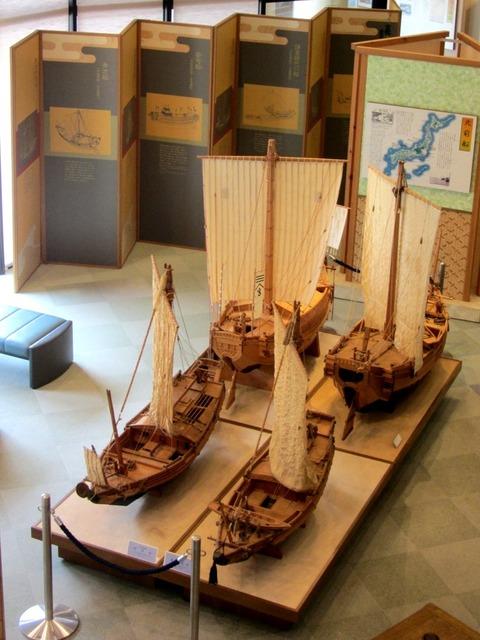 和船展示4隻とパネルx
