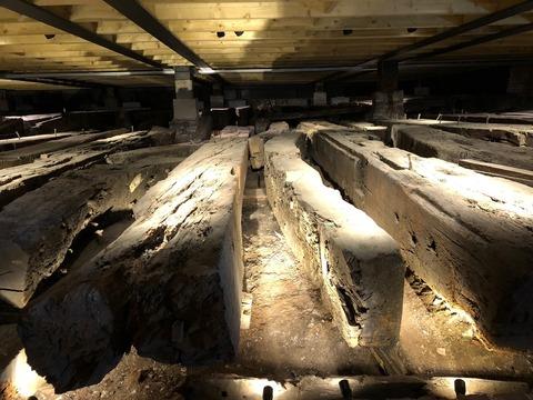 Namurの木材再利用の現物展示