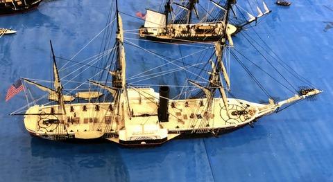 蒸気外輪フリゲートPowhatan模型縮尺1_400