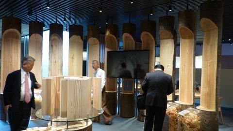 木の展示 竹中道具館