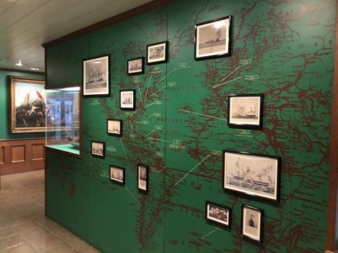 戦いの地を示す地図パネル