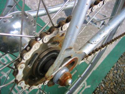 自転車の 博多 自転車 修理 : こんなカンジなサビ + か ...