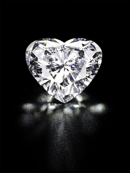 Heart-Shaped Diamond - black