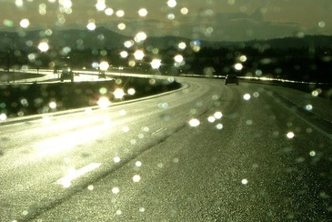 rain sun road