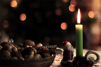 santa-candle-bokeh