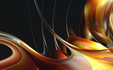 壁紙ライン、抽象的、3D、カラー、ハニー