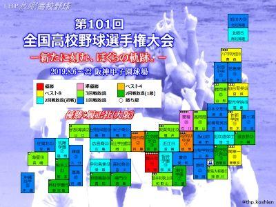 2019夏の甲子園代表校マップ(クリックで拡大)