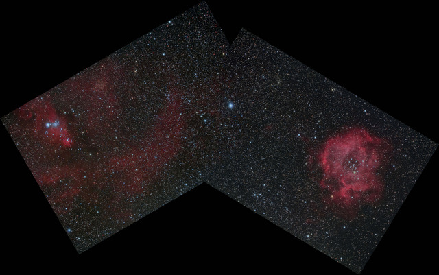 クリスマスツリー星雲+バラ星雲-SI7-R
