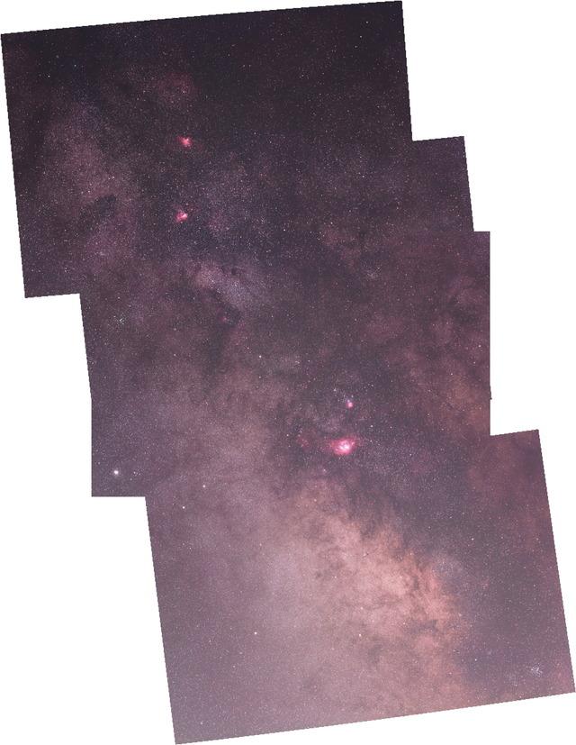 天の川パノラマ-R
